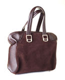Women handbag isolated on a white Royalty Free Stock Image