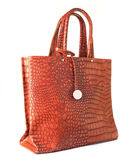 Women handbag isolated on a white Royalty Free Stock Images