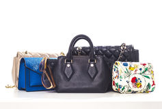 Women handbags isolated on white Royalty Free Stock Image