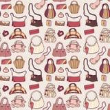 Women handbags. Seamless pattern. Stock Images