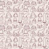 Women handbags. Seamless pattern. Royalty Free Stock Photo