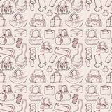 Women handbags. Seamless pattern. Royalty Free Stock Images