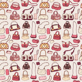 Women handbags. Seamless pattern. Stock Images