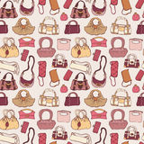 Women handbags. Seamless pattern. Royalty Free Stock Photos