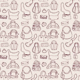 Women handbags. Seamless pattern. Royalty Free Stock Images