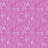 Women handbags. Seamless pattern. Stock Photos