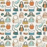 Women handbags. Seamless pattern. Royalty Free Stock Photos