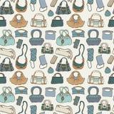 Women handbags. Seamless pattern. Stock Photography