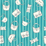 Women handbags. Seamless vector pattern Royalty Free Stock Photography