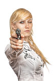 Women with handgun Royalty Free Stock Photo