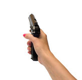 Women with handgun. Stock Images