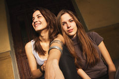 Women hanging out together Royalty Free Stock Photos