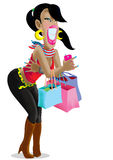 Women are happy when shopping. Royalty Free Stock Photo