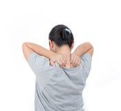 women has neck pain. stock image