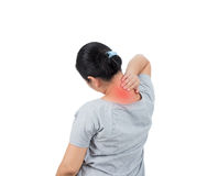 women has neck pain. royalty free stock images