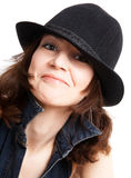 Women in hat Stock Photography