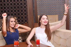 Women have fun at the party Royalty Free Stock Photos