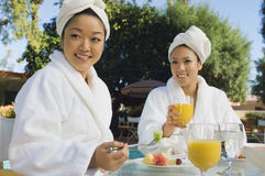 Women Having Breakfast Stock Images