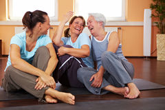 Women having fun in gym Royalty Free Stock Photo