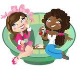 Women having tea Royalty Free Stock Photo