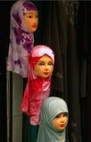 Women headdress. Traditional women headdress in old Jerusalem market Royalty Free Stock Photo