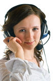 Women in headphones Royalty Free Stock Photos