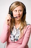 Women with headphones Stock Photos