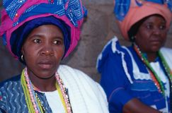 Women in headress in South Africa Royalty Free Stock Photo
