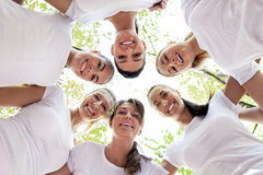 Women with heads together Stock Images