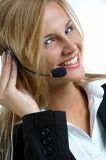 Women with Headset Stock Images