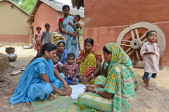 Women Health. A volentiar discussing  about women health at the tribal belt of Bihar-India Stock Photography