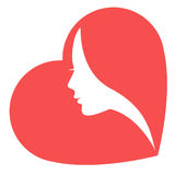 Women in heart Stock Image