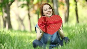 women with heart shape stock video