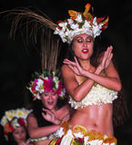 Women in Heiva 2015 dance competition, Tahiti Royalty Free Stock Image