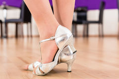 Women with her dancing shoes Stock Photography