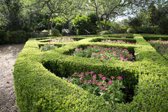 Women& hermoso x27; jardín de s en Dallas Arboretum imagenes de archivo