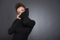 Women hiding her Face Royalty Free Stock Photography