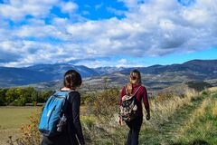 Women hiking  Stock Image