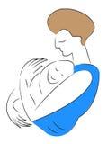 Women holding baby Stock Photo