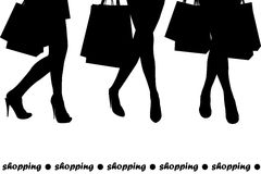 Women holding shopping bags Stock Images