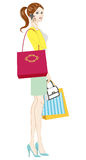 Women holding Shopping Bags Royalty Free Stock Photos