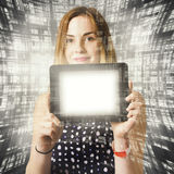 Women holding tablet technology Stock Photo