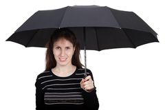 Women holding umbrella Royalty Free Stock Photo