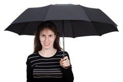 Women holding umbrella Royalty Free Stock Photo