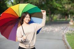 Women holding umbrella Royalty Free Stock Photography