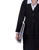 Women holds the document case in hand Royalty Free Stock Photos