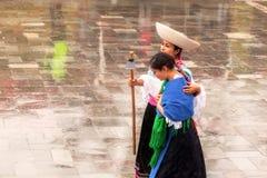 Women Is Honoring The Inca Deity
