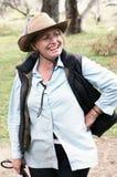 Women horse riders. Happy women horse rider in the Australian bush Stock Images