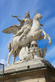 Women on horse Statue - Paris Royalty Free Stock Photography