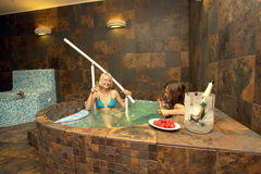Women in Hot Tub Stock Photos